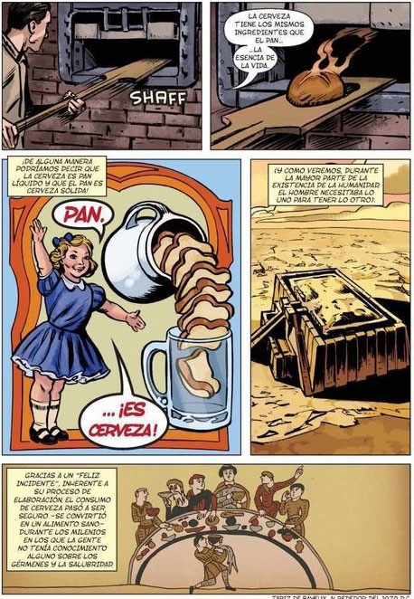 Comic Historia de la Cerveza interior viñeta
